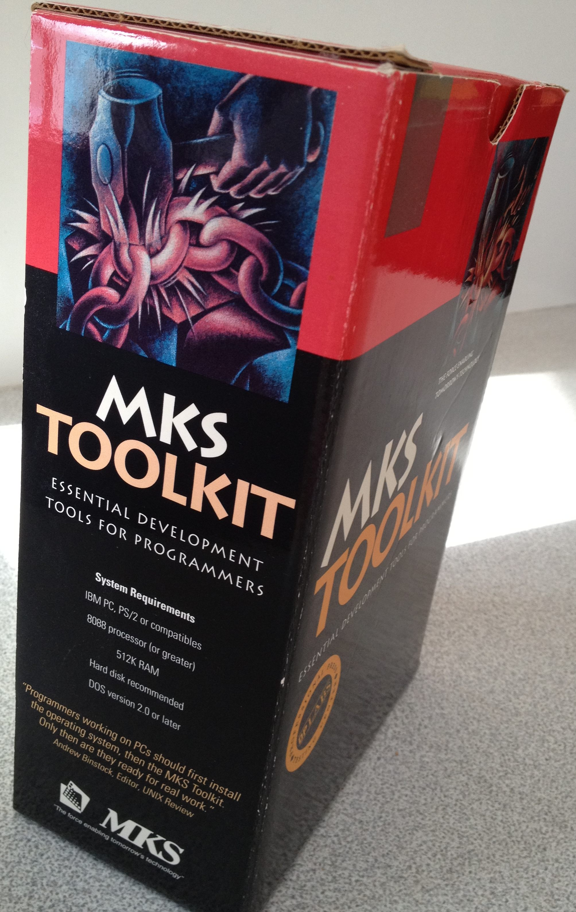MKS Toolkit More Professionally Packaged (circa 1988)